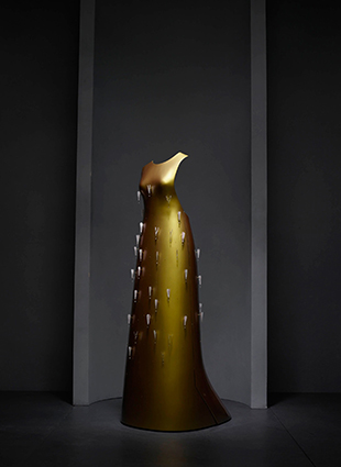 "Hussein Chalayan (British, born Cyprus, 1970) ""Kaikoku"" floating dress, autumn/winter 2011–12 Courtesy of Swarovski Photo © Nicholas Alan Cope"