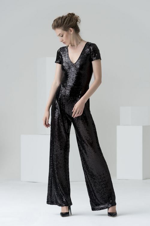 The Selina black sequin